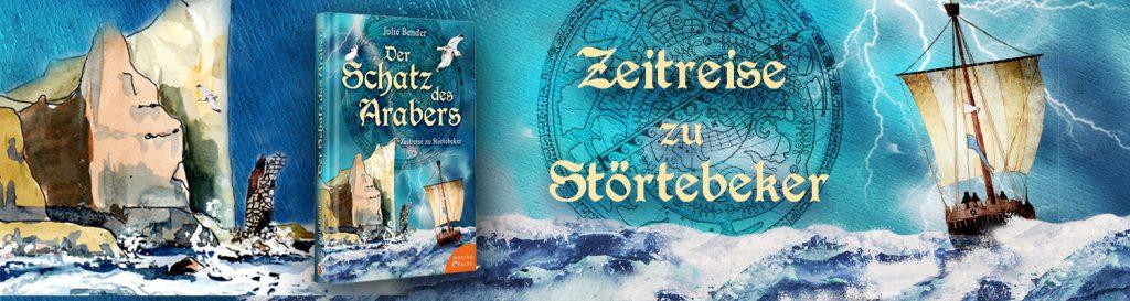 Piraten-Kogge und Buchabbildung