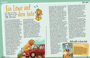 """Artikel über """"Mia Magie"""" in einer Zeitschrift für Kinder"""